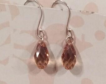 Simple But Elegant Swarovski crystal dangling earrings