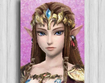 Princess Zelda legend of zelda print