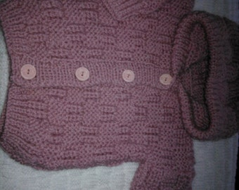 Little girls knitted jacket