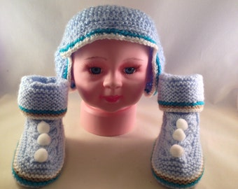 Blue Headband for Boys with booties