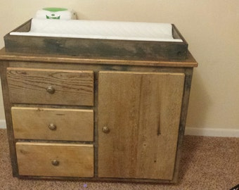Rustic Baby Changing Table