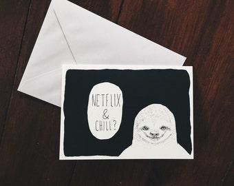 Valentine Sloth Etsy