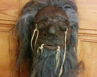 Shrunken head replica. Sideshow gaff. Animal Hyde. Curiosity/oddity/museum exhibit. Tribal/voodoo/African
