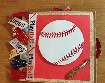 Paper Bag Scrapbook Baseball Theme