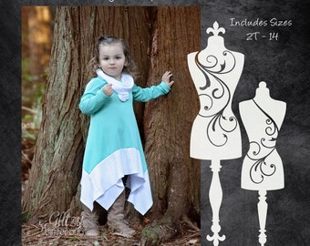 The Ginger Snap Dress (Children's Sizes) PDF Sewing Pattern
