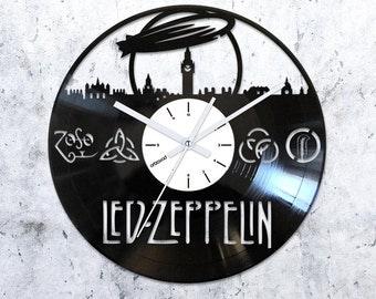 Led Zeppelin clock,led zeppelin art vinyl clock,vinyl recor clock,record clock,vinyl clocks,4762016