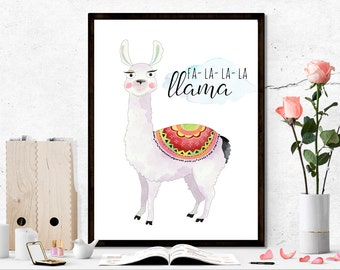 Llama printable, funny printable, animal printable, llama print, nursery printable, nursery print, children printable, children printables