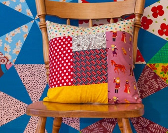 ON SALE! Coussin 16x16 Patchwork pillow 16x16