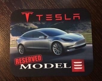 "TESLA Model 3 ""RESERVED"" Mousepad"