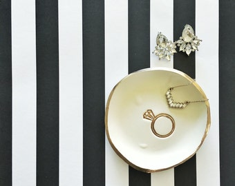 I DO // Handmade Polymer Clay Jewelry Dish, Ring Dish, Trinket Dish