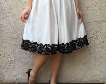 Satin Lace Skirt, Embroidered