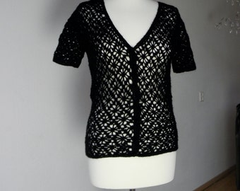 Black knitted top - size M