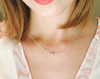 SILVER*BEAD on Sterling Silver Ball&Chain Necklace // Sterling //Layering