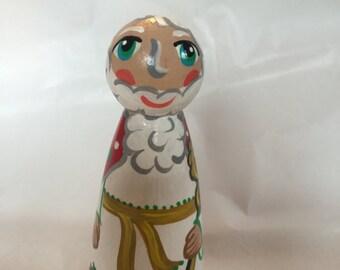 Saint Nicholas peg doll