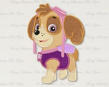 BOGO FREE! Skye applique embroidery design, Skipper Machine Embroidery Designs, Embroidery designs for babies, A050