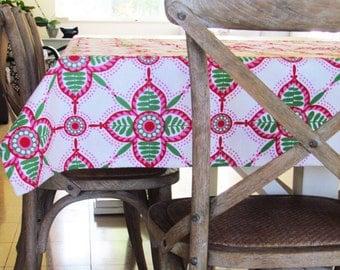 Canvas Tablecloth, Handmade