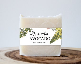 Avocado Soap - Vegan Soap, Cold Process Soap, Cruelty Free Soap, All Natural Soap, Organic Soap, Natural Soap, Bar Soap