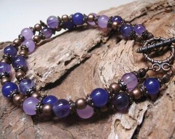Boho Bracelet Amethyst Bracelet Purple Bracelet Boho Chic Bracelet Gemstone Jewelry Ethnic Bracelet Bohemian Bracelet Purple Bracelet
