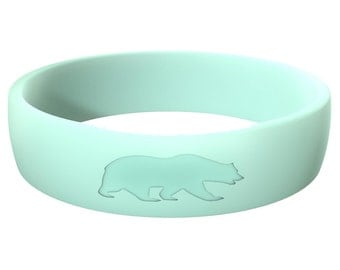 Women's Mint Blue Silicone wedding Ring