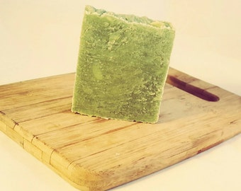 Raw goat milk soap hand milled coconut and lime
