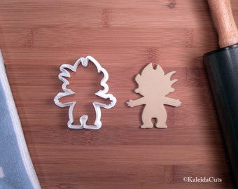 Troll Doll Cookie Cutter. Valentine Cookie Cutter. 3D Printed. Treasure Troll. Custom Cookies. Sugar Cookies. Cookie Mold. Fondant Cutter.