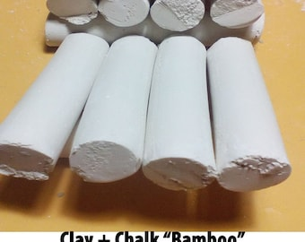 "Edible Chalk chunks Russian,Chalk natural,""Bamboo""-""SAWN BELGORODSKIY"" 200gr .Free samples"