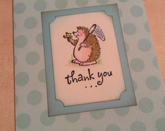 Thank You Card, Hedgehog Stationary, Individual or Set