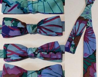 Handmade Bow Tie - Purple Lotus