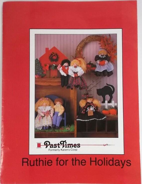 Vintage Pattern Ruthie for the Holidays Halloween Pilgrim Christmas Easter Patterns Decorations Holiday Craft Decor Destash Supply