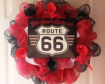 Route 66 Wreath 20 inches