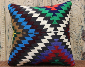 Handmade kilim pillow cover 18x18 inches Turkish kilim pillow cover Home Decor Accent pillow Oriental pillow Natural Pillows SBB-194