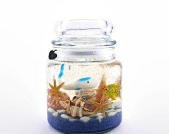 Forever Gel Candle, Refill the tealight holder, Keep the candle forever, Seashell/Fish Gel Candle, Ocean Scent Available!
