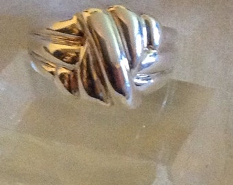 Sterling knot ring