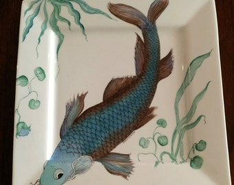 Hand Painted Fish Plate