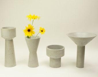 Vases en béton châteaux d'eau - Concrete watertowers vases