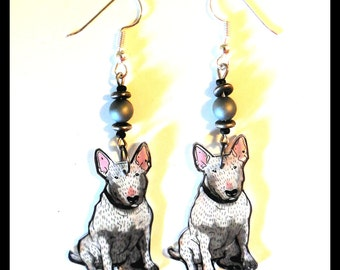 Earrings bull terrier