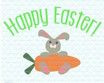 Easter Bunny SVG, DXF files,Happy Easter, Bunny svg, svg easter, carrot svg, Silhouette Studio Designer Edition and Cricut Design Space