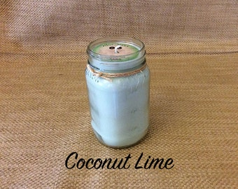 16 oz. coconut lime soy candle