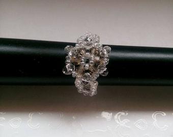 Beaded snowflake ring