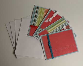 Multi Color Boxed Note Card Set (Set of 4 cards with envelopes)
