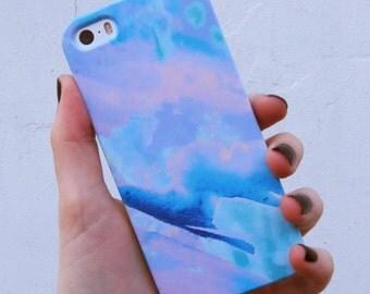 Pretty Blue 'Azure' Print Phone Case, Clouds, Sky Print