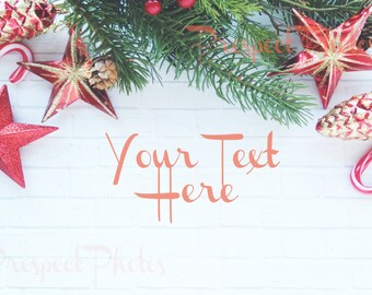 Holiday Styled Stock Photography| Christmas stock photos| Blog photos | Product mockup