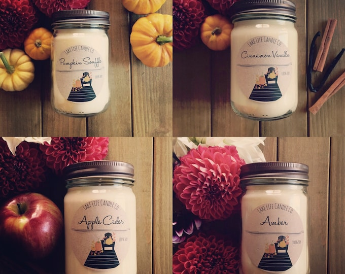 Fall Collection BUNDLE. Handmade Soy Candles. Lake Life Candle Co.