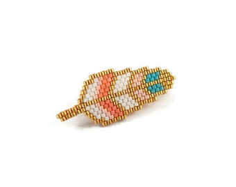 PIN feather beads Miyuki