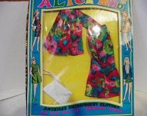 Barbie Clone Mod Fashion Doll , 1960's Mod Clothing Set , Rare Alice Mod In Original Box