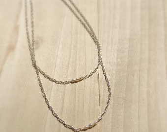 """Seed Pearl Necklace 16"""""""