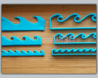 Set of Wave Cookie Cutters