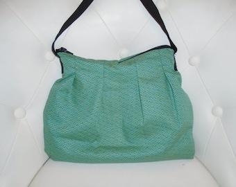 Japanese cotton fabric purse Green