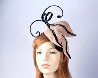 Winter felt fascinator. Many colors available