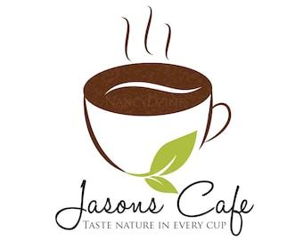 Coffee logo - Cafe logo - premade cafe logo - Barista - Logo Design